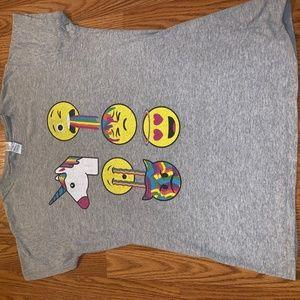 Grey T-Shirt w/Emojiś